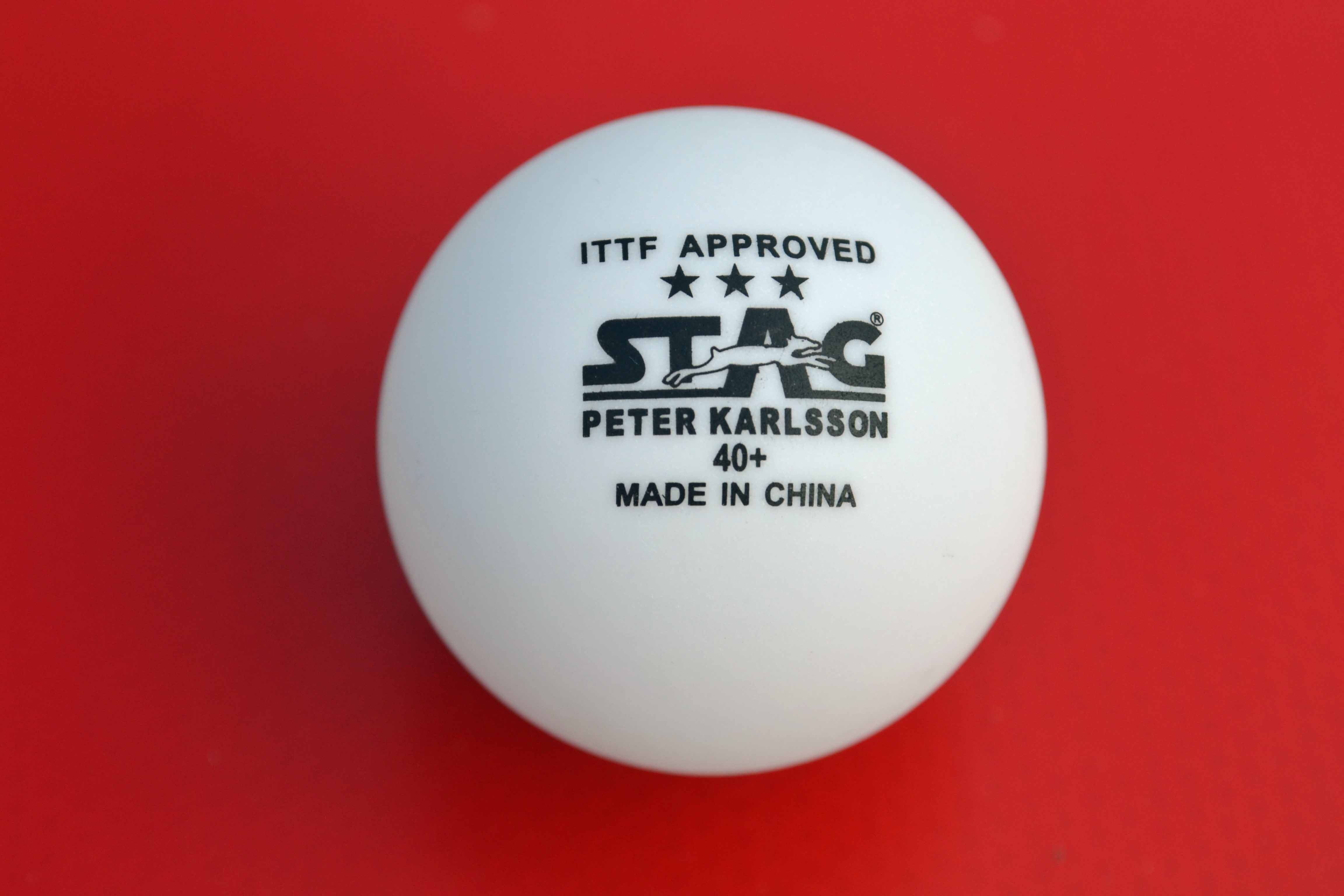 Stag Peter Karlsson 40+ 3-Star Table Tennis Ball Review